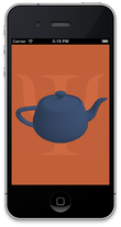 Rotating blue teapot