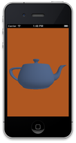 OpenGL ES teapot on iPhone