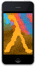 iPhone with yellow voronoi lambda
